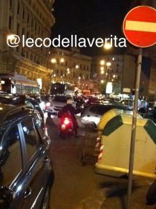 traffico in tilt a Napoli