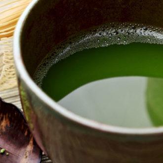 tè verde con succo di mela