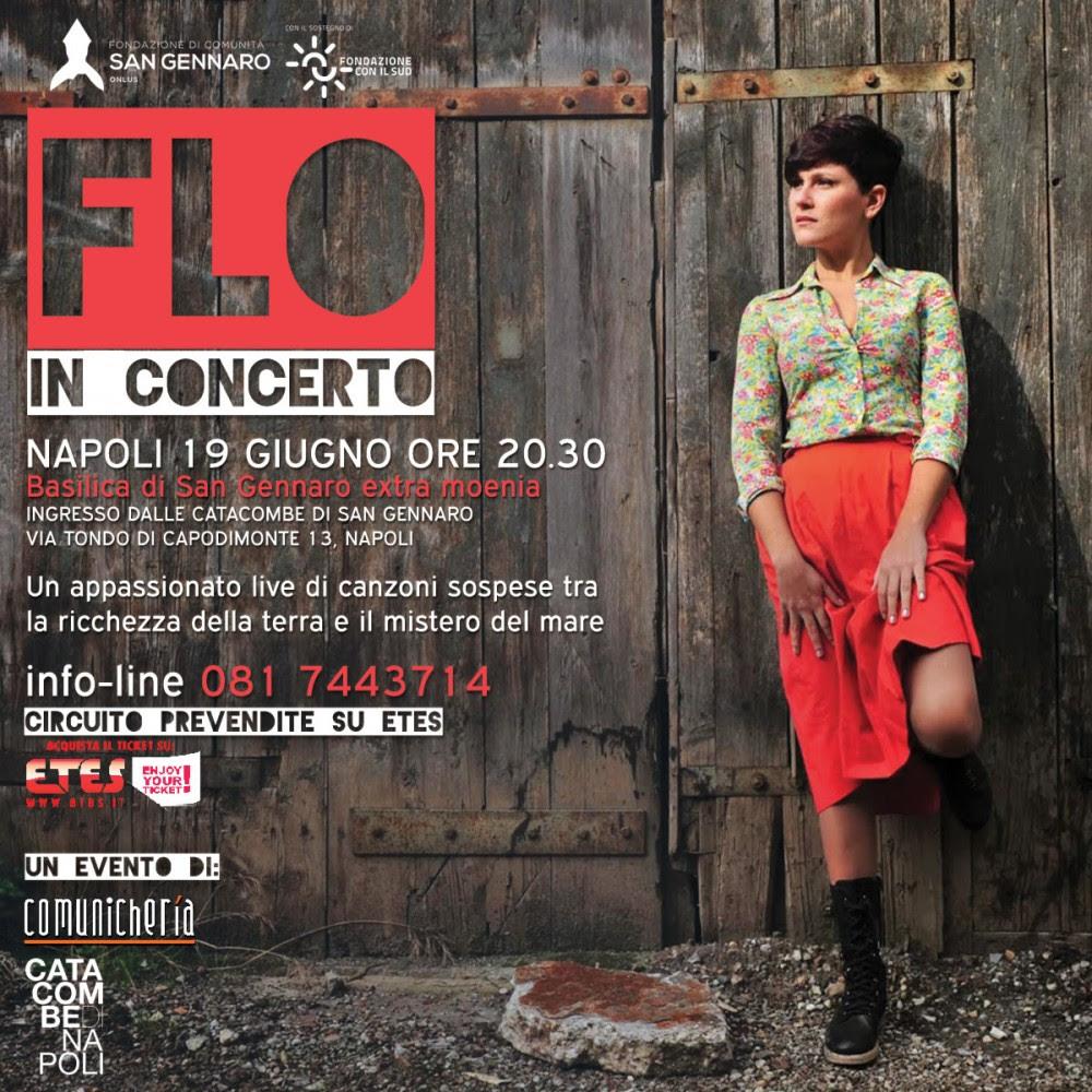 Napoli, Flo in concerto alle Catacombe di San Gennaro