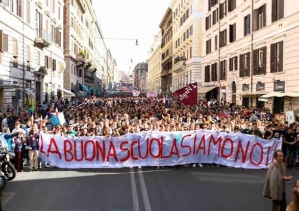 studenti della campania corteo Link Napoli