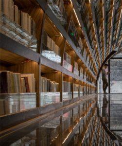 tunnel di libri shangai