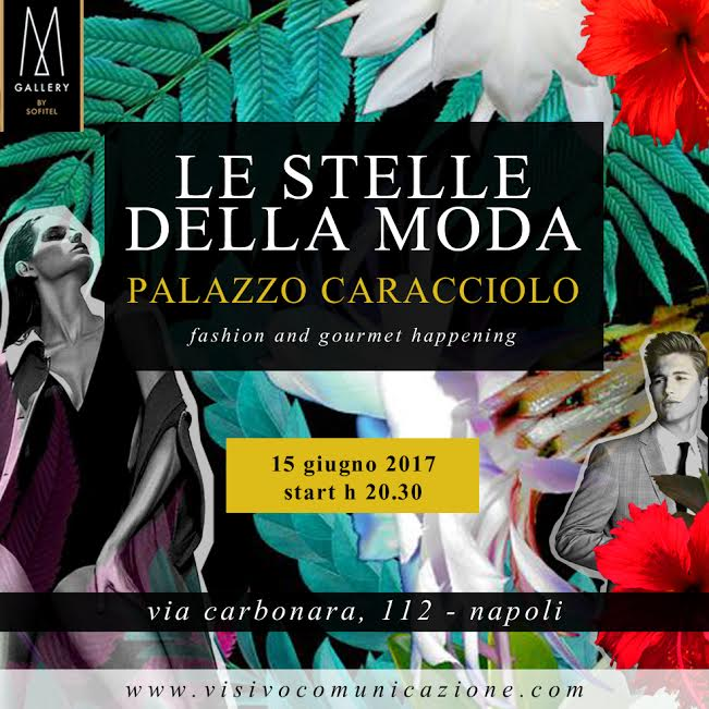 Napoli, evento tropical chic: Stelle della moda a Palazzo Caracciolo