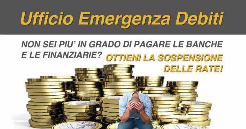 Basta debiti e ipoteche, Ufficio Emergenza Debiti salva da banche e usurai