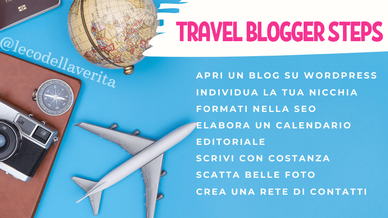 Come diventare blogger di viaggio in pochi step