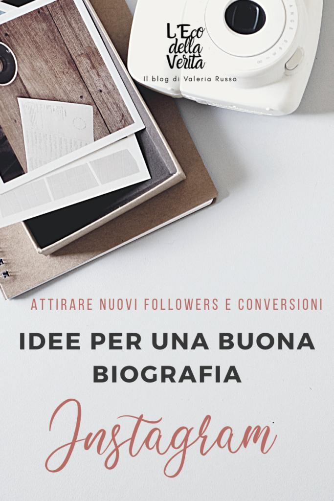 idee per una biografia instagram