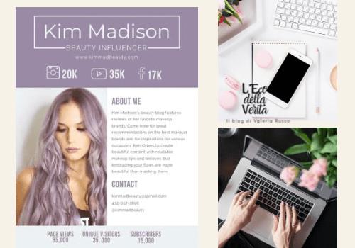Media kit per influencer Instagram