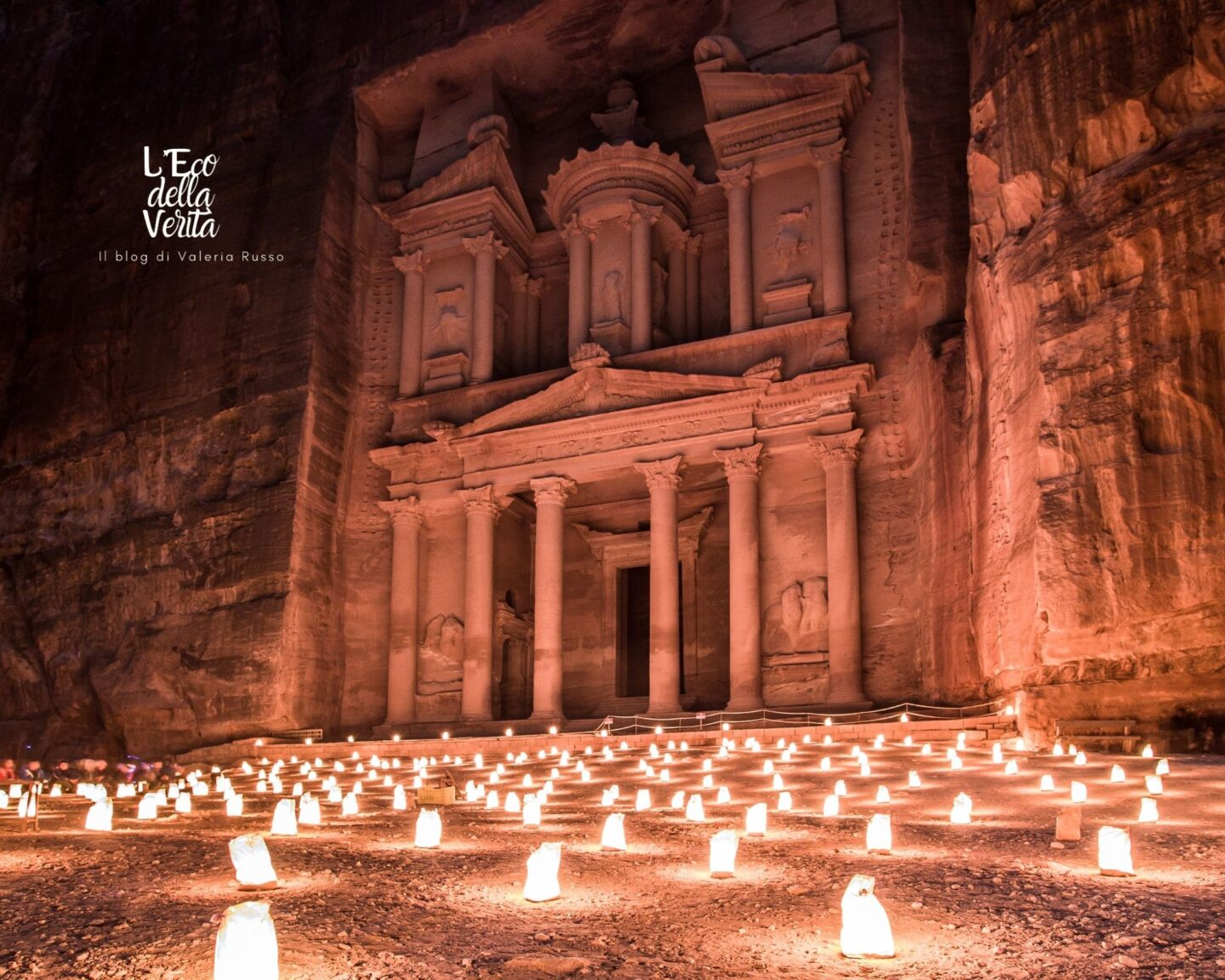 Petra by night Giordania