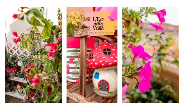 giardino sul balcone fiorito